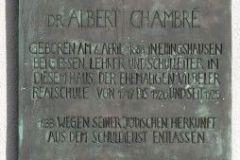 Gedanktafel für den Lehrer Albert Chambré