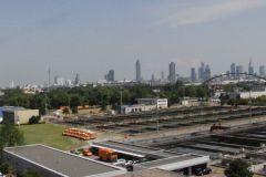 Blick vom Verwaltungsgebäude