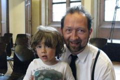 Gregor Praml mit Sohn